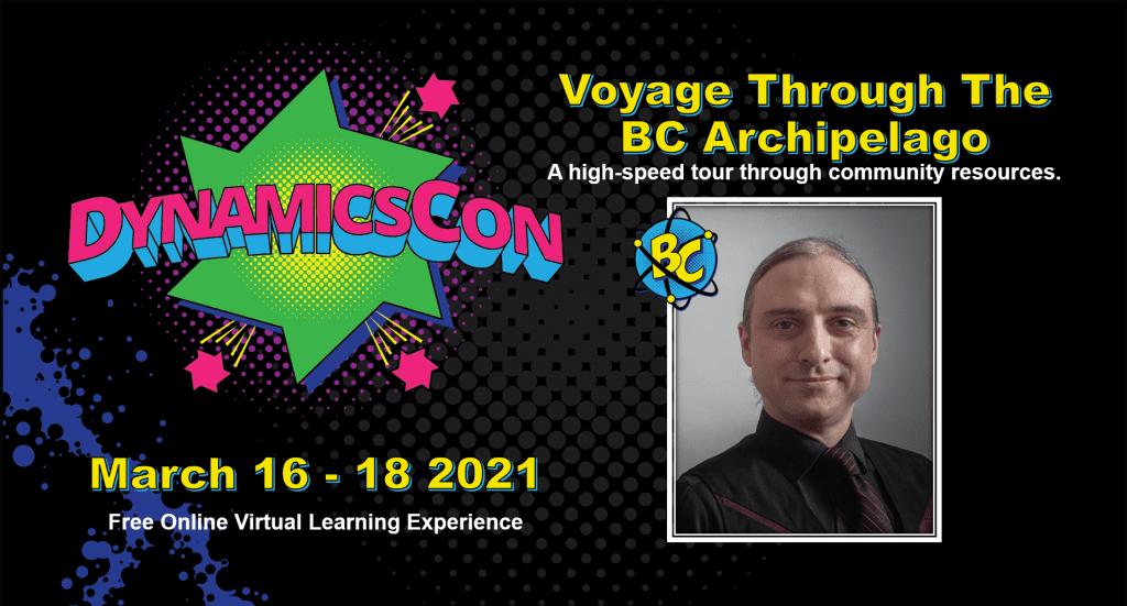 DynamicsCon - Voyage through the BC Archipelago promotional slide